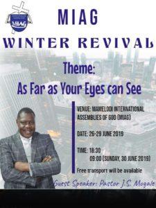 MIAG Winter Revival @ Mamelodi IAG